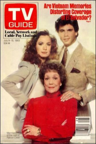 TV Guide Cover featuring Falcon Crest