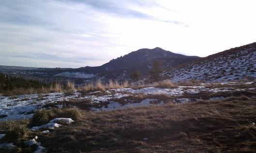 Winter photos of Mount Sanitas, Boulder Co