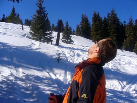 Chris Jones skiing to Sangree's Hut, 10th Mountain Hut Association