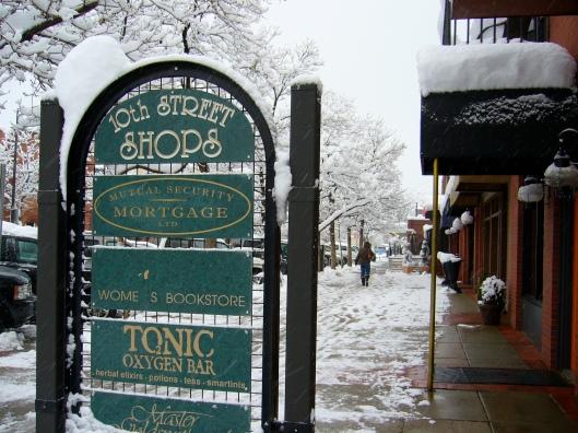 Boulder Colorado in Winter