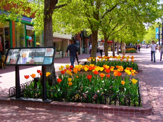 Spring In Boulder on Pearl Street Mall