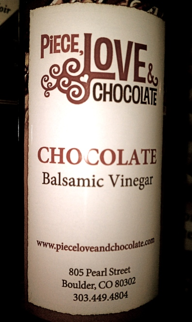 Chocolate Balsamic Vinegar at Peace Love & Chocolate