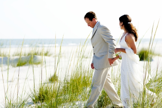 Chris and Spice Jones, wedding on Cape San Blas
