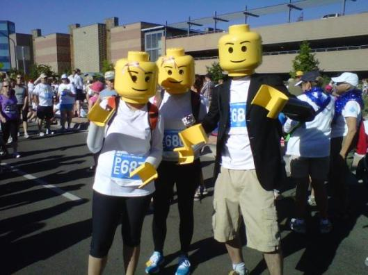 Yellow guys running the 2012 Bolder Boulder