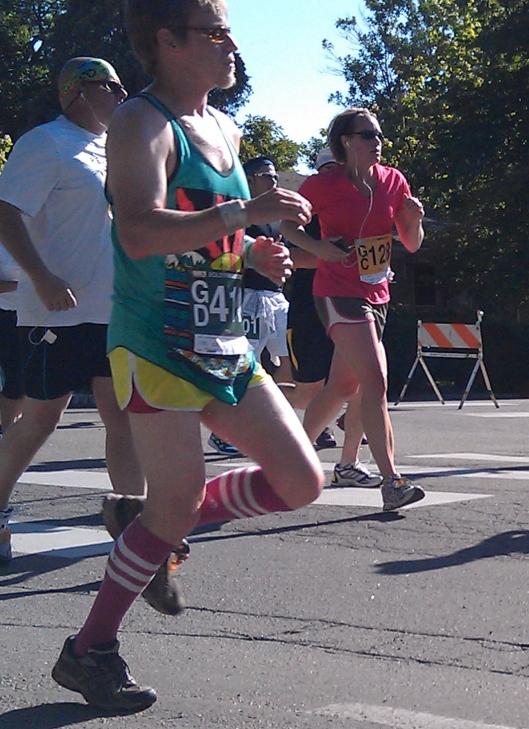 Guy running in the 2012 Bolder Boulder