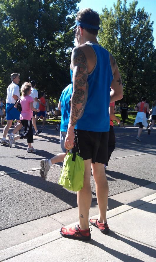 Guy running The 2012 Bolder Boulder