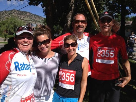 Spice Jones on the sidelines of the 2012 Bolder Boulder