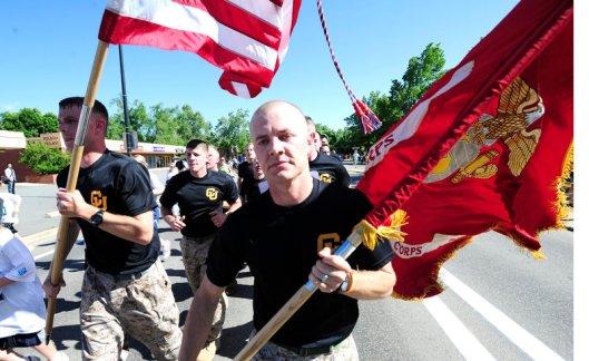 US Marines in the 2012 Bolder Boulder