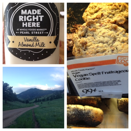 An evening hike on Mt. Sanitas, fresh baked cookies and almond milk = a great night in Boulder