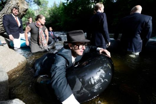 Tube To Work Day on Boulder Creek
