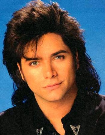 Johns Stamos with a mullet